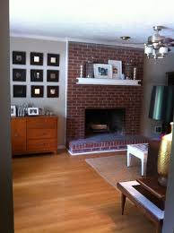 interior fetching living room decoration using brown brick