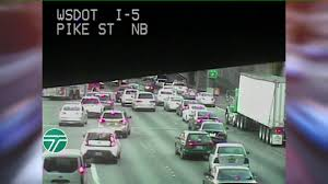 Wsdot Traffic Map One Person Seriously Hurt In 6 Car Crash On I 5 In Downtown