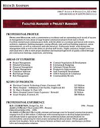 resume templates for facilities manager 100 images top 8