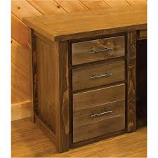 barn wood style executive desk with hutch