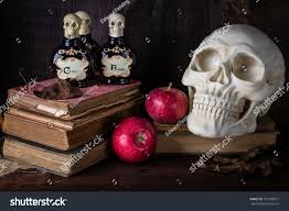 scary halloween photo background still life background scary halloween items stock photo 153108917