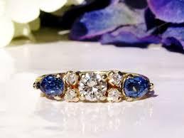 vintage sapphire engagement ring 1 26ctw wedding ring 14k