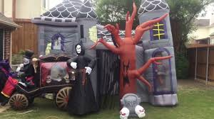 inflatable haunted house and inflatable carriage video for