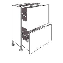 meuble a cuisine de cuisine bas faible profondeur 2 tiroirs twist cuisine