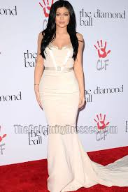 kylie jenner elegant mermaid evening formal dress 2nd annual