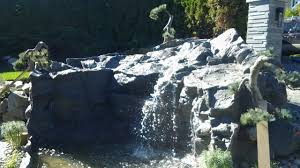 Rock Garden Waterfall Rock Garden Waterfall Garden Treasures 21 65 In Fiberglass Rock