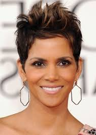 halle berry razor cut pixie african american hairstyle popular