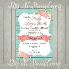 Lingerie Party Invitations Teal And Coral Lingerie Party Invitation Lingerie Shower Invite