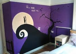 nightmare before christmas bedroom nightmare before christmas wall mural finished by anaseed
