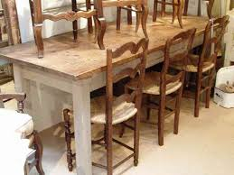 kitchen awesome distressed wood dining table round dining table