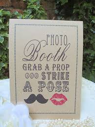booth sign strike a pose a4 size poster shabby chic kraft recycled
