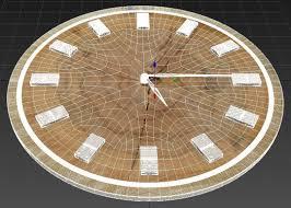 wooden clock 3d cgtrader