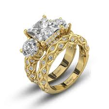 Cubic Zirconia Wedding Rings by Vintage Style Princess Cut Lab Created Cubic Zirconia Wedding Rings