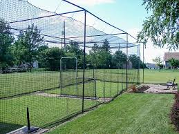 building a home batting cage photo with mesmerizing backyard