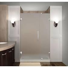 Frameless Glass Kitchen Cabinet Doors Aston Nautis 40 In X 72 In Frameless Hinged Shower Door In