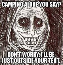 Creepy Meme - meme creepy face cing alone woodland gear