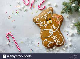 background with gingerbread and decorations
