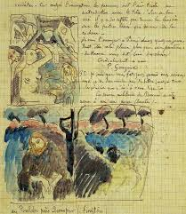 gauguin sketches of christ in the garden of olives
