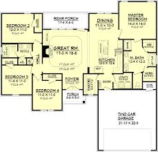 traditional floor plan traditional style house plan 4 beds 2 00 baths 1798 sq ft plan