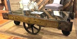 railroad cart coffee table cart coffee table warehouse cart coffee table industrial cart coffee