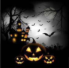 spooky halloween background vector free download download