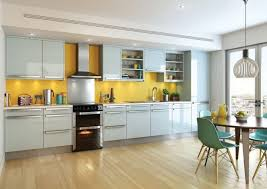 Kitchens With Yellow Walls - tiles backsplash vibrant and bright kitchen with yellow storage