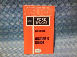 1981 ford econoline van nos owners manual guide texas nos