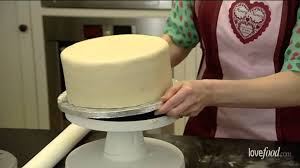 how to marzipan and ice a cake youtube