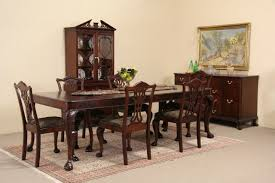 Mahogany Dining Room Table And Chairs Sold Georgian Style 1940 U0027s Mahogany Dining Set Table 6 Chairs