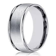 Wedding Rings For Men by 14k Men U0027s White Gold Designer Wedding Band 8mm Width