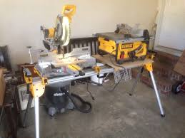 dewalt table saw folding stand how to get dewalt miter saw and table saw on same stand dewalt