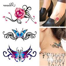 women u0027s 3d tattoo flash body art diy stickers for body glitter