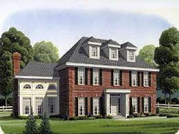 georgian style home plan distinctive colonial plans of