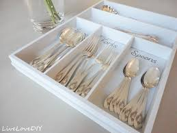 livelovediy painting ideas how to update an old silverware organizer