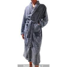 robe de chambre homme chaude robe de chambre homme pilou chaude douce et confortable gris gris