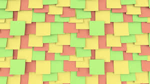 multicolor post it stickers on the wall office work or reminder multicolor post it stickers on the wall office work or reminder concepts 4k seamless loop close up dolly clip motion background videoblocks