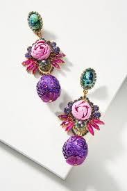 purple earrings statement earrings anthropologie