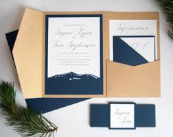 Pocket Wedding Invitations Invitations Archives Wild Blue Weddings
