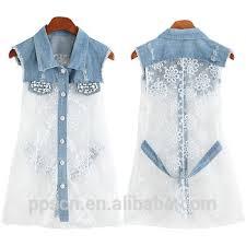 alibaba jeans alibaba top quality new fashion latest sleeveless denim lace white