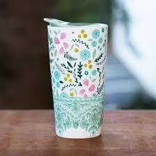 Desk Mug Spring Floral Desk Mug With Lid U2013 Stash Tea