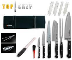 malette de couteau de cuisine pour apprenti chroma mallette complète de couteaux top chef 14 pièces achetez