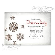 white christmas party invitation vintage silver light gray snow