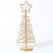 8 gold spun spiral wire tree table decor and winter