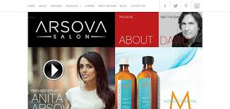 Home Care Website Design Inspiration Arsova Salon Website Has A Great Web Design Best Web Designs