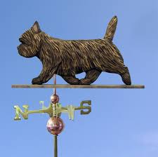 cairn terrier carved painted basswood weathervane