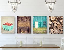 Kitchen Wall Decor by Kitchen Wall Rustic Kitchen Wall Decor Set Of Three