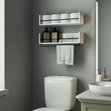 Bathroom Toilet Cabinet Bathroom Black Wall Mounted Bathroom Storage Cabinet With Towel