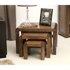 dark wood coffee table sets lounge table and chairs lounge walnut nest of 3 coffee tables table