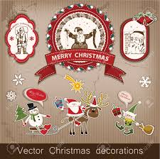 New Year Decorations Items by Christmas And New Year Set Of Decorative Items Antique And