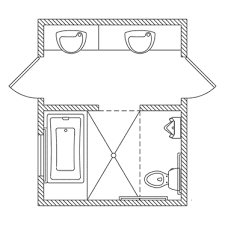 basement bathroom floor plans designed with two entrances not sure what the x is however